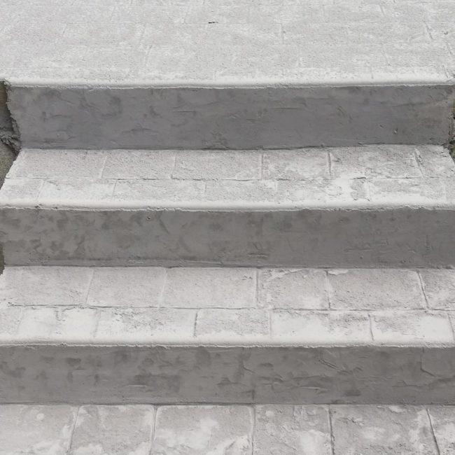 Décoration béton d'un escalier extérieur