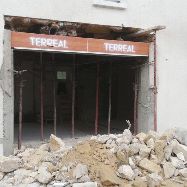 Création d'une ouverture en façade