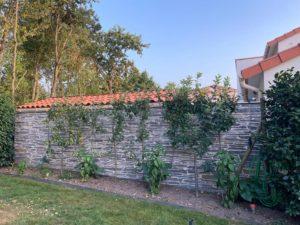 Mur extérieur imitation pierre