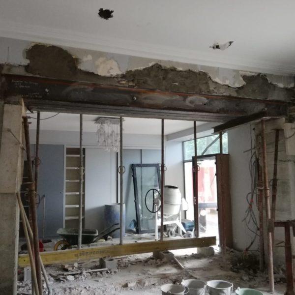 Maçonnerie sur une rénovation de maison
