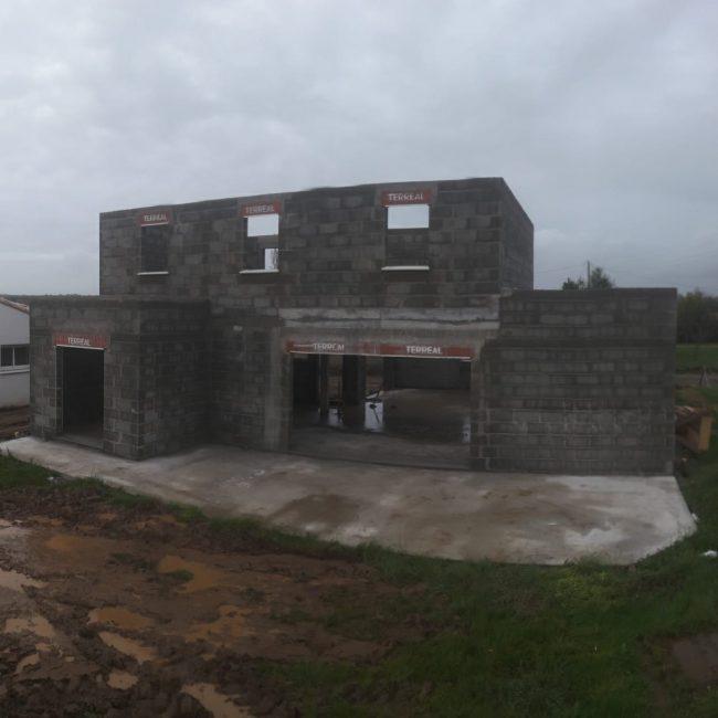 Création d'une maison d'habitation