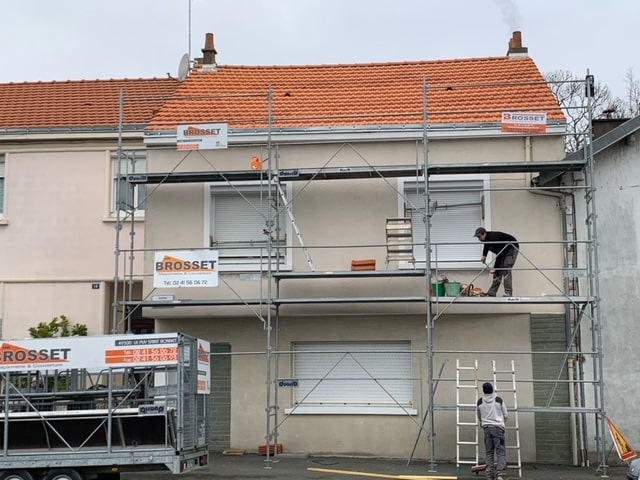 Réalisation couverture pour cette maison d'habitation à Cholet (49).
